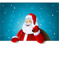 Happy Santa Claus over white blank vector image vector image