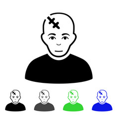 head hurt flat icon vector image vector image