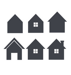 house icon set real estate logo template im vector image