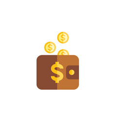 Isolated pouch flat icon payment element vector