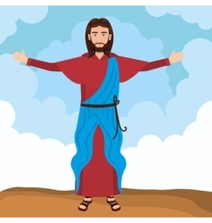 Jesus christ resurrected design vector