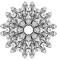 Mandala ethnic indian design vector