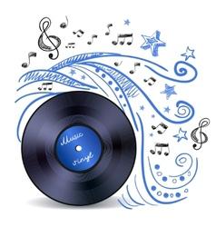 Music doodle vinyl vector