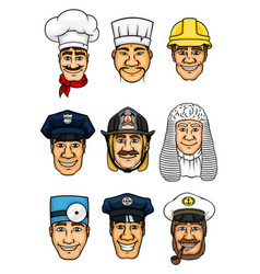 Professions cartoon icon set for occupation design vector