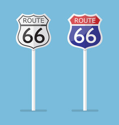 Route 66 road sign set vector