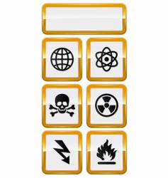 set of danger icons vector image vector image