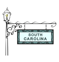 South carolina retro pointer lamppost vector