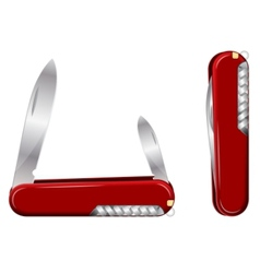 swiss army knife vector image vector image