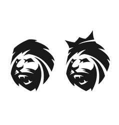 the head of a lion two options vector image
