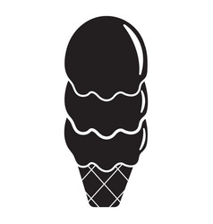 three balls ice cream icon simple black style vector image vector image