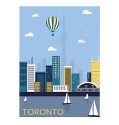 Toronto city canada vector