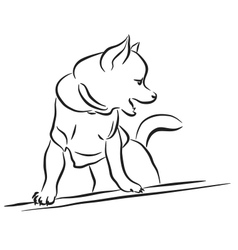 Toy dog sketch vector