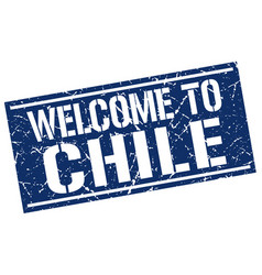 Welcome to chile stamp vector