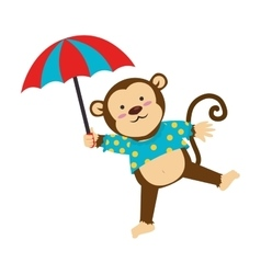 Circus monkey cartoon icon vector