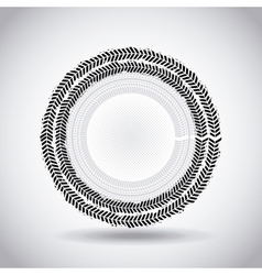 wheel print design vector image