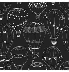 air baloon pattern vector image