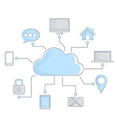 Internet cloud vector