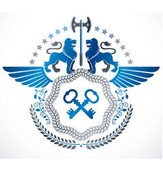 Retro vintage insignia design element vector