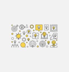 Business ideas banner design vector