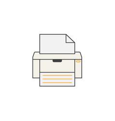 Fax line icon printer electronic device vector