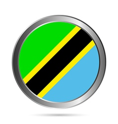 Tanzania flag button vector
