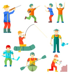 Flat icon people of different professions vector