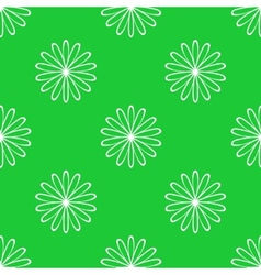 Simple floral seamless pattern vector image