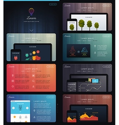 Landing page for web marketing vector