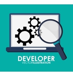 Developer icon design vector