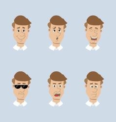 head mens set of icons vector image