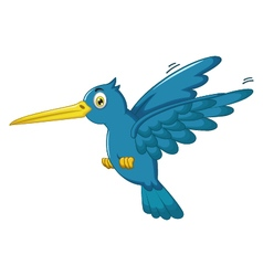 King fisher cartoon flying vector