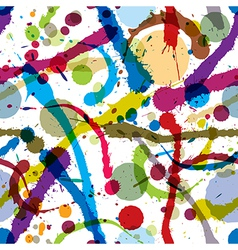 Ink splatters seamless pattern vector