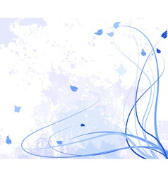 Abstract flower violet vector