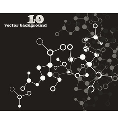 Abstract molecular structure background vector image vector image
