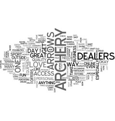 Archery dealers text word cloud concept vector