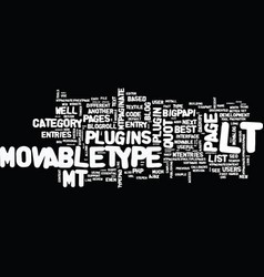 best movabletype plugins text background word vector image