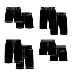 Black shorts vector image vector image
