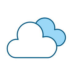 blue clouds cartoon vector image vector image