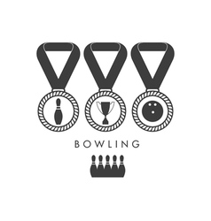 Bowling trophy vector