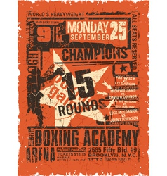 Boxing match vintage poster vector