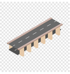 bridge road isometric icon vector image