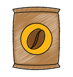 Coffee sack isolated icon vector