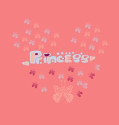 cute little ballerina setdoodle vector image vector image