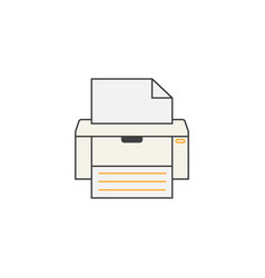 Fax line icon printer electronic device vector