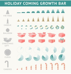 Holiday coming progress bar vector image vector image