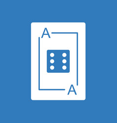 Icon dice on playing card vector