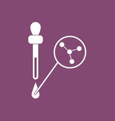 Icon molecules and pipette vector