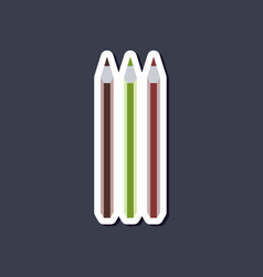 Paper sticker on stylish background pencils vector