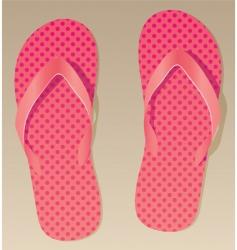 pink flip flops vector image