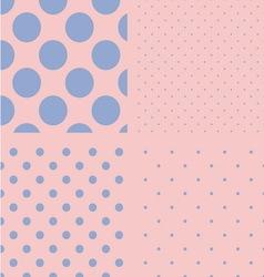 Polka dot set Seamless pattern Rose quartz and vector image vector image